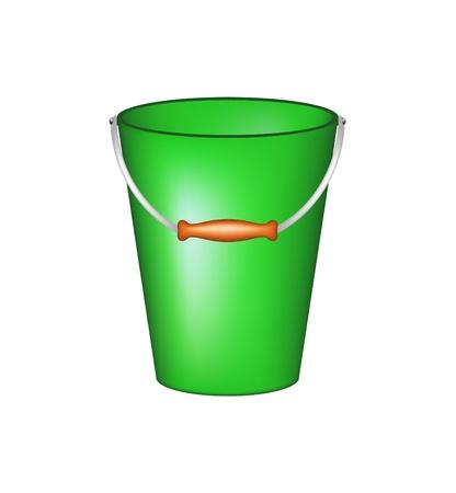 Bucket in green design Stock Vector - 16909360
