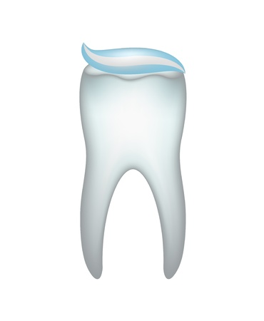 Tooth and tooth paste Vector