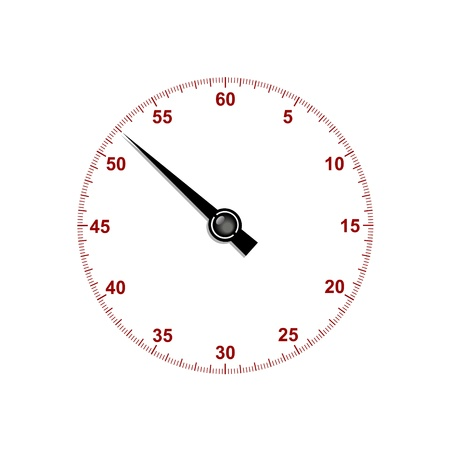 Stopwatch dial with stopwatch hand Stock Vector - 17190379