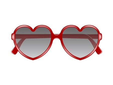 Sun glasses in shape of heart Stock Vector - 17474774