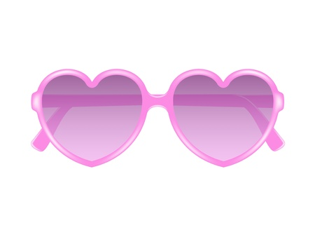 Sun glasses in shape of heart Stock Vector - 17474773