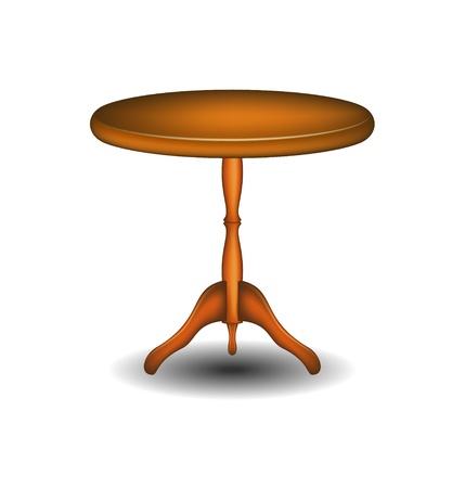 木製の丸いテーブル