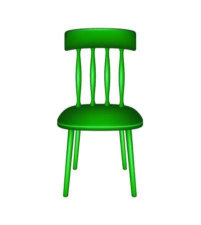 chair wooden: Wooden chair in green design