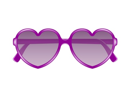 Sun glasses in shape of heart Vector