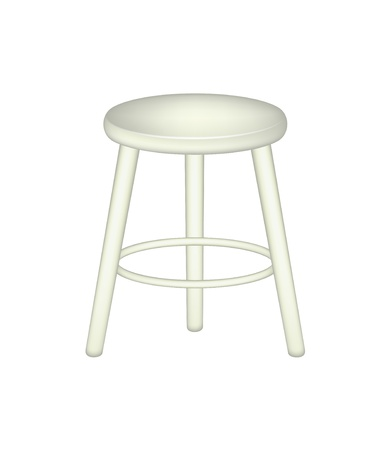 stools: Retro stool Illustration