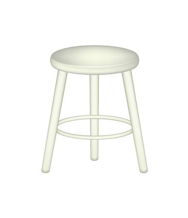 wooden stool: Retro stool Illustration