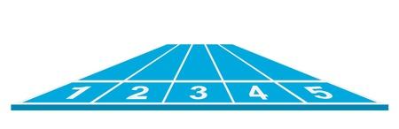 running track: Atletiekbaan startpositie