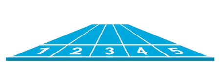 Running track  start position   Vector