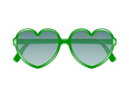 Sun glasses in shape of heart Stock Vector - 18459623
