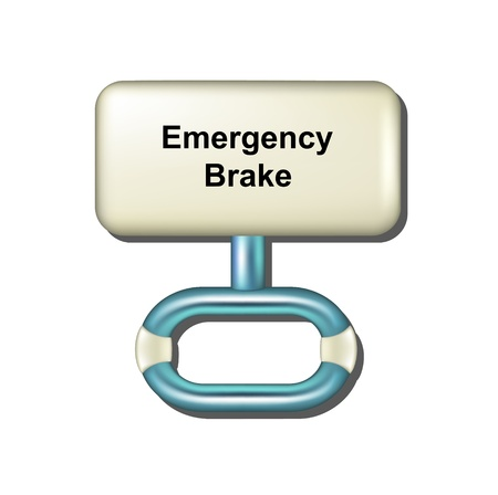 Emergency brake Illustration