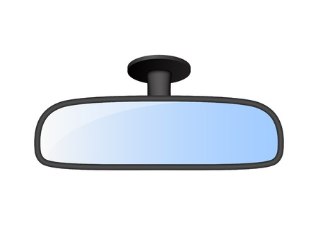 rear view mirror: Car rear view mirror