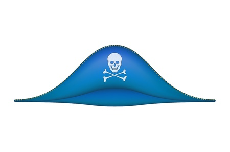 death s head: Pirate hat with skull symbol Illustration