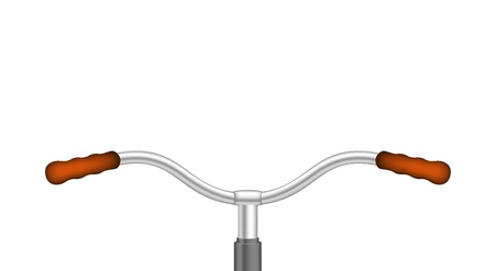 Handlebar of a bicycle Vector