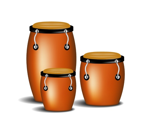 african dance: Congas band Illustration
