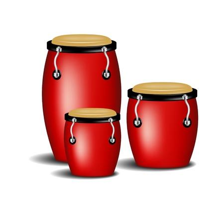 bailes de salsa: Banda Congas Vectores