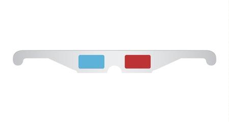 Unfolded cinema glasses Stock Vector - 20301286