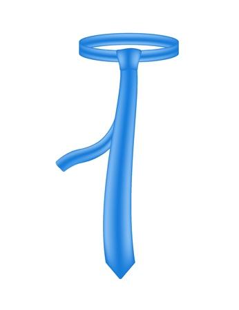 necktie: Blue necktie Illustration