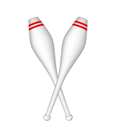 Gymnastic clubs Vector