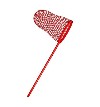 fishing net: Net in red design Illustration