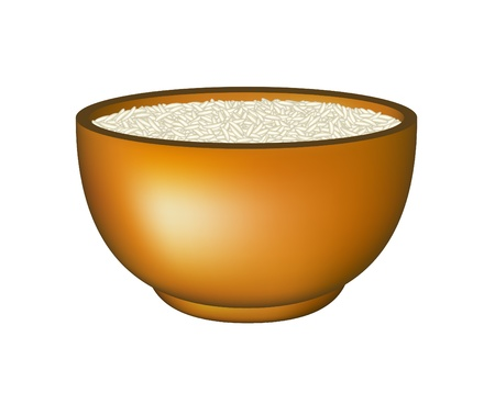 brown rice: Bowl of rice