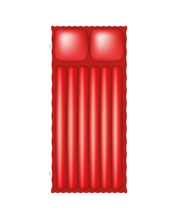inflating: Air mattress in red design