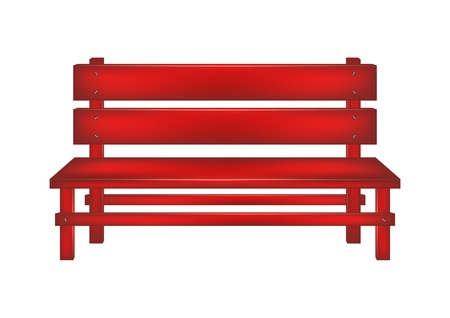 Rural bench Vector