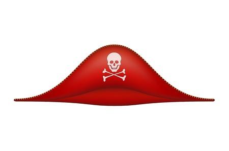 piratenhoed: Piraat hoed met schedel symbool Stock Illustratie