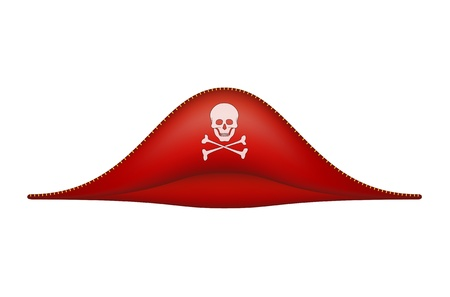 Pirate hat with skull symbol Stock Vector - 21999972