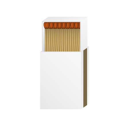 Open matchbox with a blank top Vector