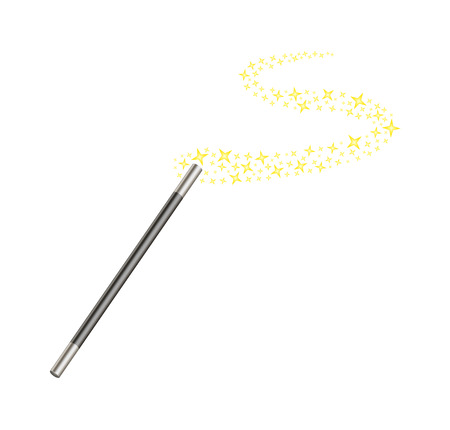 witchery: Magic wand with stars Illustration