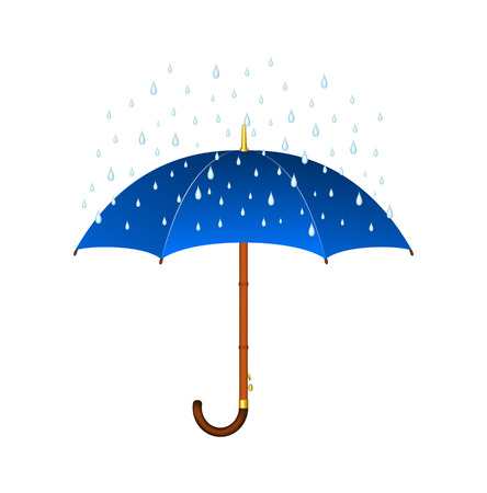 umbrella rain: Umbrella and rain Illustration