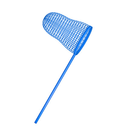 entomologist: Net in blue design