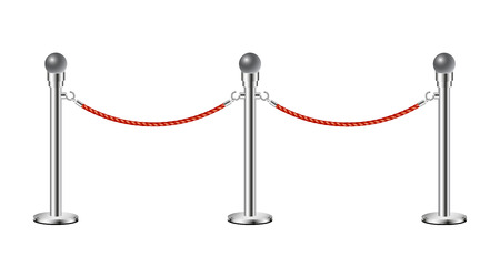 rope barrier: Stand rope barriers