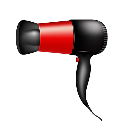 Electric hair dryer Vector