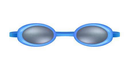 swim wear: Blue swimming goggles