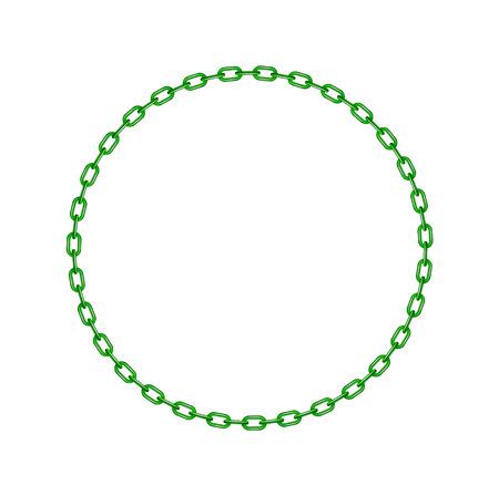 Chaîne verte en forme de cercle Banque d'images - 24525933