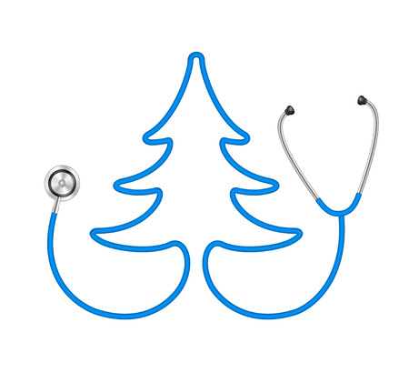 caregivers: Stethoscope in shape of tree