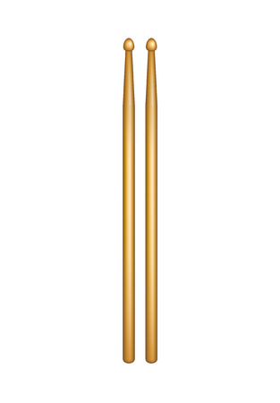 drumsticks: A pair of wooden drumsticks