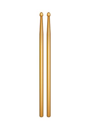 Een paar houten drumsticks