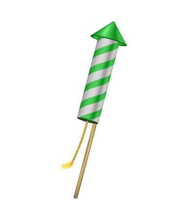 wick: Firework rocket with burning wick Illustration