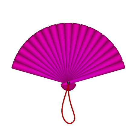 open fan: Purple oriental fan