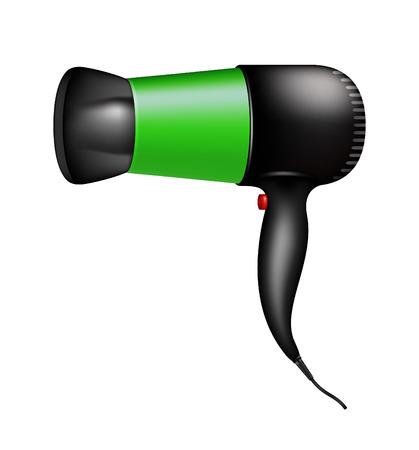 electric dryer: Electric hair dryer Illustration