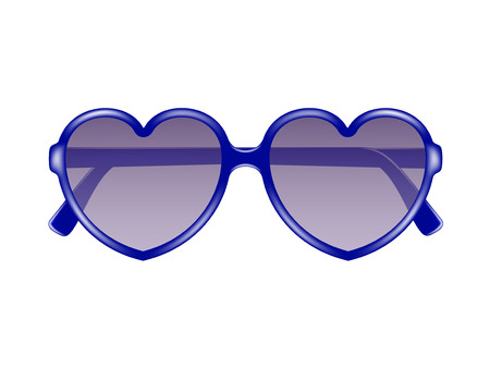 Sun glasses in shape of heart Stock Vector - 25308196