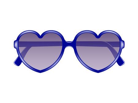 Sun glasses in shape of heart Stock Vector - 25308196