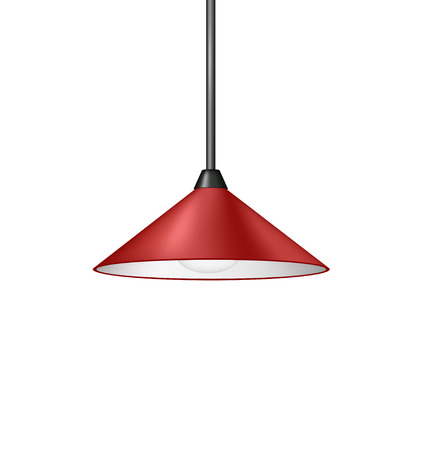 Retro red hanging lamp