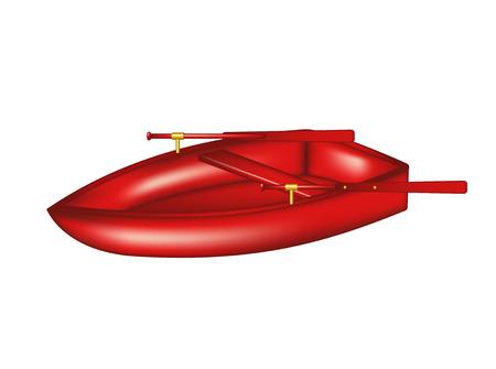 rowboat: Wooden rowboat