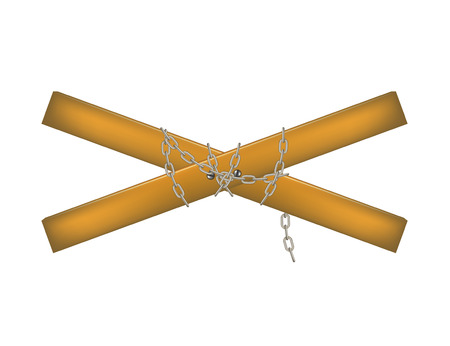 strictly: Wooden crossbar connected by chain