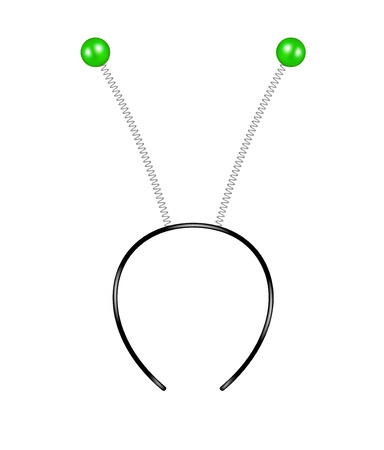 녹색 더듬이와 머리띠