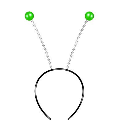 feelers: Headband with green feelers