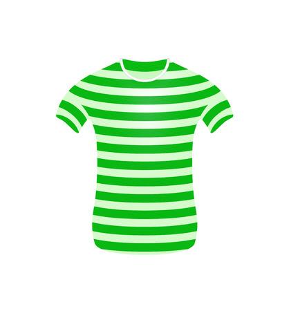 streaked: Striped t-shirt